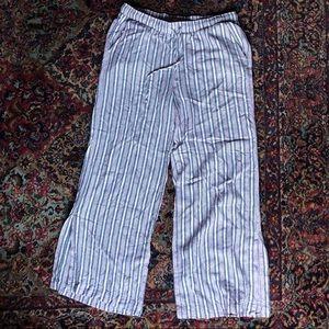 Cloth & Stone Linen Wide Leg Striped Hamptons Pant